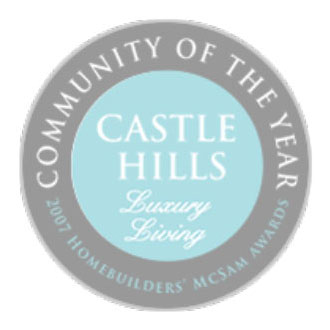 Castle Hills - Community of the Year Award